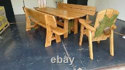 Garden Patio Furniture Set 8 Seater Dining Outdoor Table And Chairs Oak Wood New