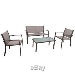 Garden & Patio Furniture Set Glass Table and Chair Set Outdoor/Indoor Dining Set