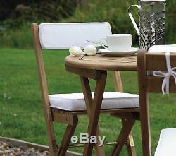 Garden Patio Set Bistro Table and Chairs Wooden Folding Garden Furniture Outdoor