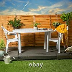Garden Table and Chair Set Resol Gala Outdoor Dining Table and 4 Chairs White