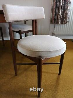 Gplan Fresco solid Teak Extending Dining Table and 4 chairs Vintage Retro