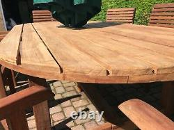 Hardwood Garden Furniture 8ft. Oval Hardwood garden dining table and 8 chairs