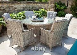 Hartman Heritage Garden Furniture 6 Seat Round Table And Dining Chairs