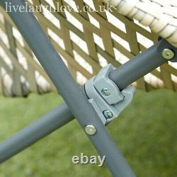 High Quality Folding Faux Rattan Bistro Set 2 Chairs + 1 Glass Top Table