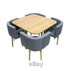 Home Elegant Dining Table and 4 Chairs Space Saver Dining Table Chairs Set