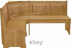 Home Wood Corner Bench Set Left And Right Wooden Kitchen Dining Room Nook Table