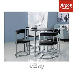 c6afd39d3d2c Hygena Milan Black Space Saver Table And 4 Black Chairsthe Official Argos  Store