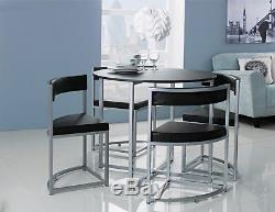 df3e2253a56 Hygena Milan Black Space Saver Table And 4 Black Chairsthe Official Argos  Store