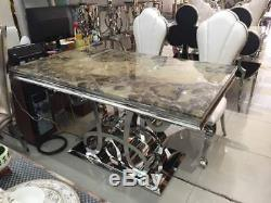 Italian Midas Marble Dining Set Table and 8 Chairs RRP 4500