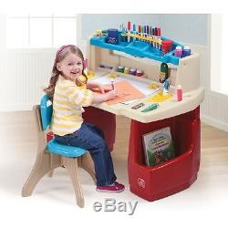 Kids Table and Chair Set Step2 Activity Art Colouring Drawing Childrens Desk Toy