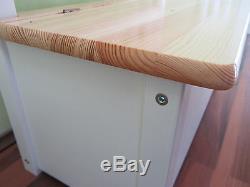 Kindersitzgruppe Kinderbank mit Deckelbremse Sitzgruppe Tischgruppe WEIß/NATUR