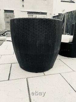Kingfisher Rattan Table and 2 Egg Chairs Bistro set Patio Outdoor Garden