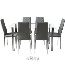 Kitchen Living Dining Table and Chairs Grey Dining Chair Set Extending 4 6 Seats