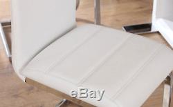 Komoro & Perth High Gloss Dining Room Table and 4 6 Chairs Set White