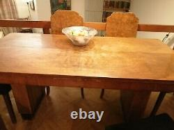 Large Art Deco Table and Chairs