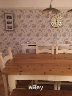 Large Wooden Dining Table and six chairs