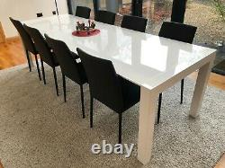 MADE. COM Bramante 6-12 Seat Extending Dining Table and 8 Scarpa chairs