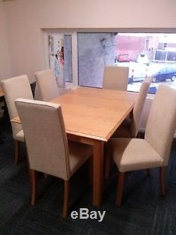 M&S Extendable Dining table and 6 chairs