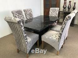 Marble dining table and 6 chairs100% real marbleUnbeatable Prices