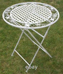 Maribelle Folding Garden Patio Furniture Set Round Table And Two Chairs