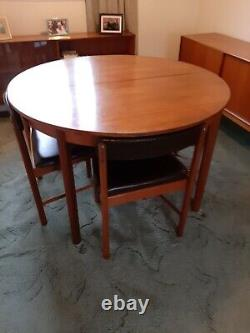 McIntosh Mid Century Extendable Dining Table And 6 Chairs. Vintage Furniture