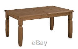 Mercers Furniture Corona Mexican Pine 5'0 Dining Table and 4 Chairs Set