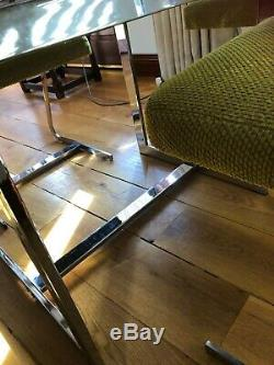 Merrow Associates Smoked Glass Dining Table and 4 original Chairs £595 set