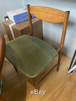 Mid Century G plan Extending dining table and chairs