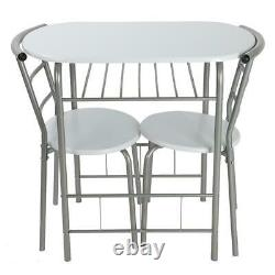 Modern Dining Table And 2 Chairs Set Bistro Small Kitchen Breakfast Desk Chair