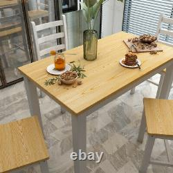 Modern Dining Table and Chairs Wooden 5 Pieces Dining Set Home Kitchen Furniture