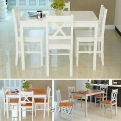 Modern Solid Wooden Dining table and 2 / 4 chairs Set Home Kitchen Furniture New