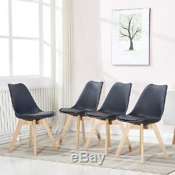 Modern Table and 4 Chairs Dining Set with Black Kitchen Diningroom Furniture Set