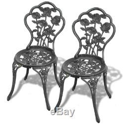 NEW Bistro Table and Chairs Set Cast Aluminium Metal Garden Outdoor Bench Patio