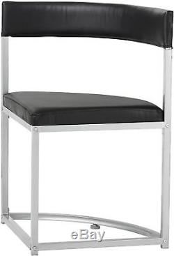 NEW Tesco Space Saver Round Table and 4 Chairs Set (Black)