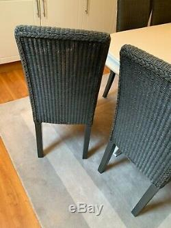 Neptune Montague dining chairs slate x 8 and dining table with removable leaf