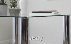 Nova & Renzo Square Glass & Chrome Dining Table And 4 Chairs Set (Grey)