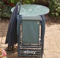 Outdoor Garden Furniture Patio Set With Chairs, Table and Parasol &FREE DELIVERY