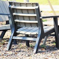 Outsunny 3pc Patio Bistro Set Outdoor Garden Furniture Set with Table and Chairs