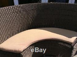 Poly Rattan Garden Furniture 10 Seater Dining Table And Chairs With Parasol
