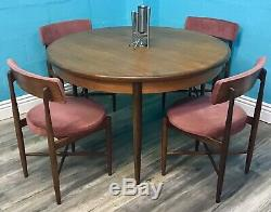 Quality MID Century Vintage Retro Teak G Plan Dining Table And Chairs