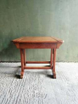 R Hamp & Co Arts and Crafts metamorphic Oak'The AdjusTable chair' table/chair
