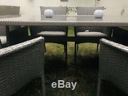 Rattan 6 Seater Garden Table And Chairs