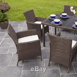 Rattan Dining Table and 8 Chairs Set 8 Seater Patio