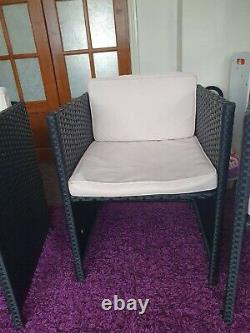 Rattan Effect Garden Table and Chair Set