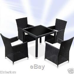 Rattan Garden Furniture Dining Table And 4 Chairs Dining Set Outdoor Patio