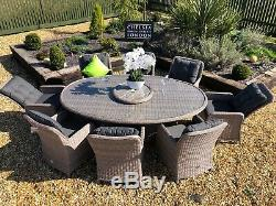 Rattan Garden Furniture Oval Garden Patio Table And Chair Set Luxury Reclining
