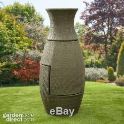Rattan Wicker Bistro Bottle Shape Table and Chairs Compact Garden Patio Set