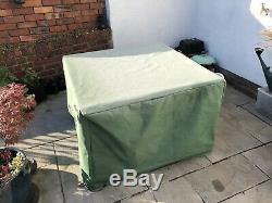 Rattan garden furniture table and chairs set with cover