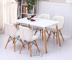 Rectangle Dining Table And 2 4 6 White Eiffel Retro Design