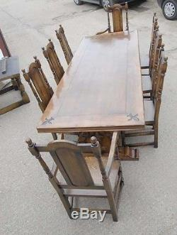 Refectory Table and Chair Set French Kitchen Dining Set William and Mary
